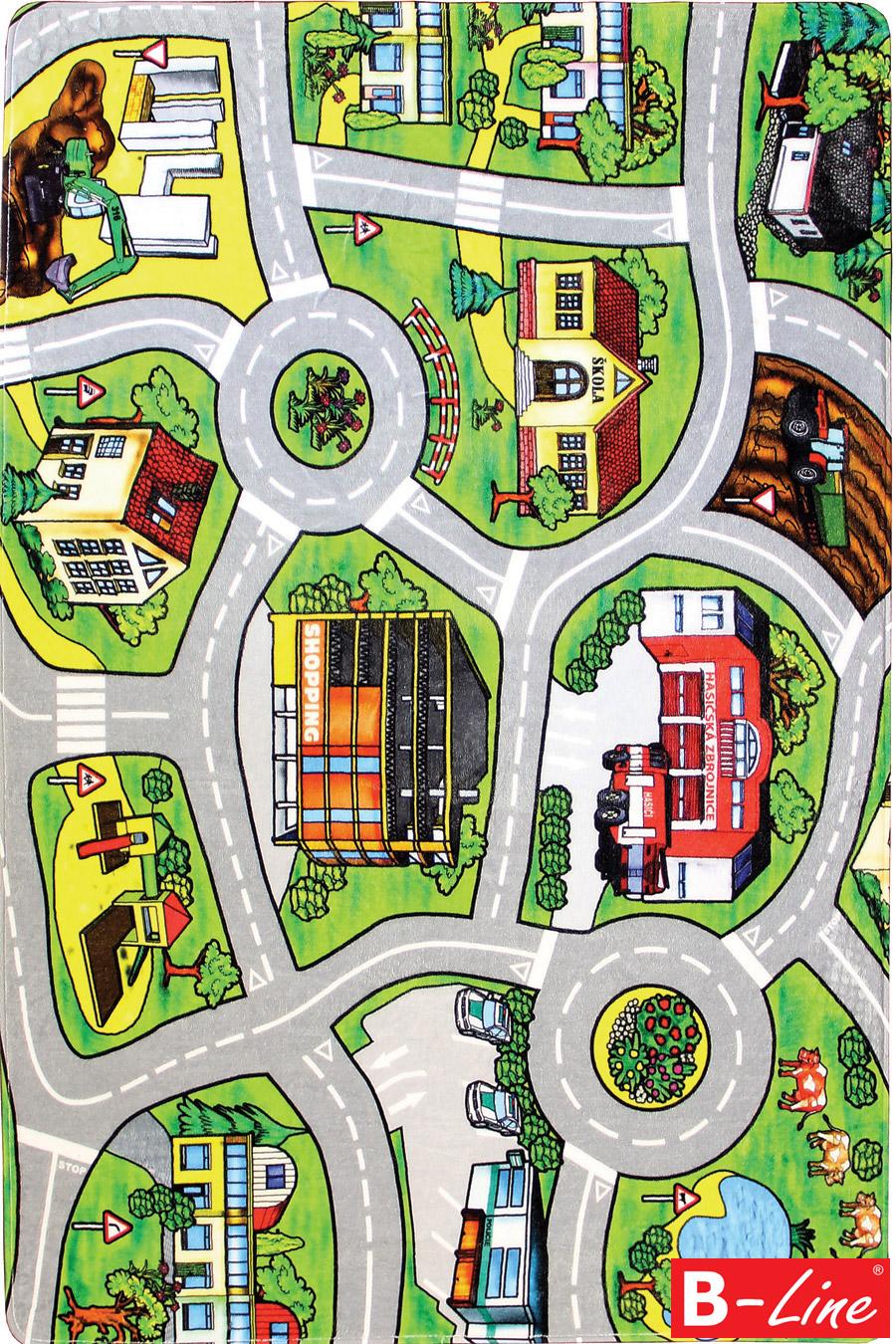 Dětský kusový koberec Silnice