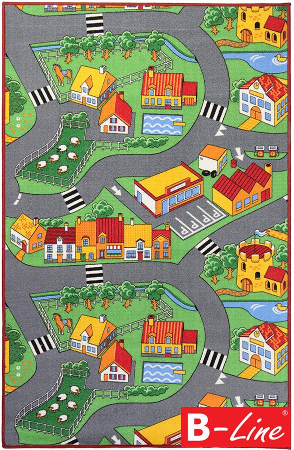 Dětský kusový koberec Little Village