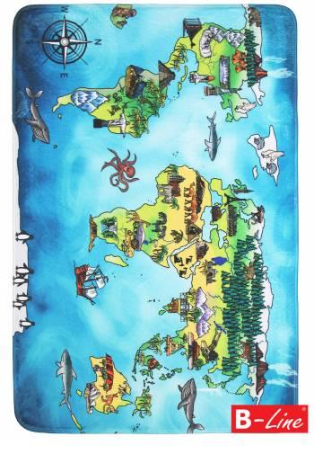 Dětský kusový koberec World Map
