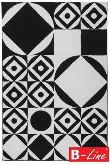 Kusový koberec Black & White 394 Black-White