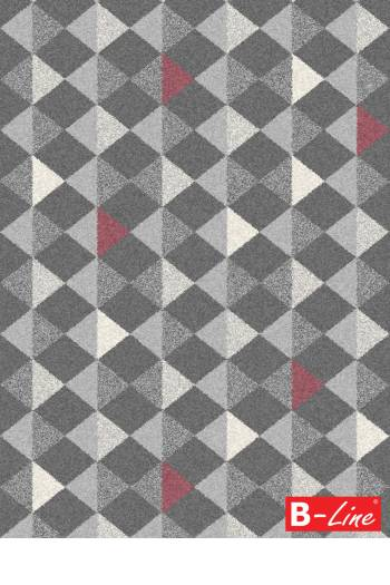 Kusový koberec Fika 78257 Antracit/Bordo