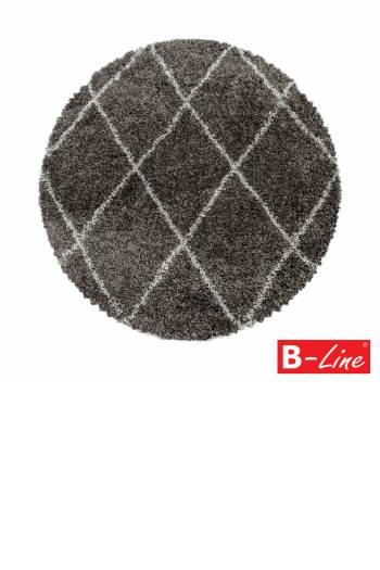 Kusový koberec Alvor Shaggy 3401 Taupe/kruh