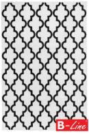 Kusový koberec Black & White 391 White