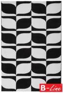 Kusový koberec Black & White 393 Black-White